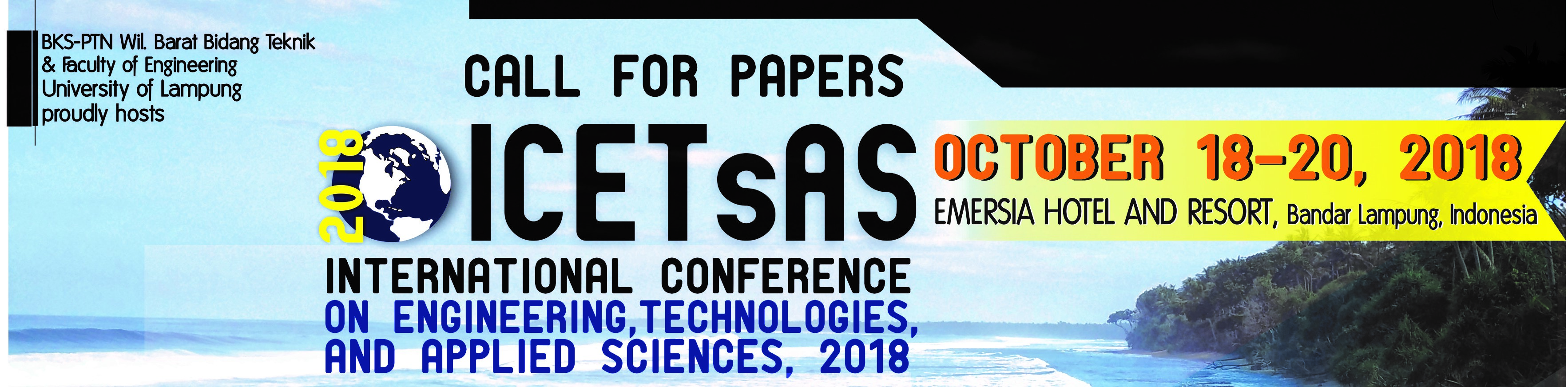 ICETsAS 2018 University Of Lampung
